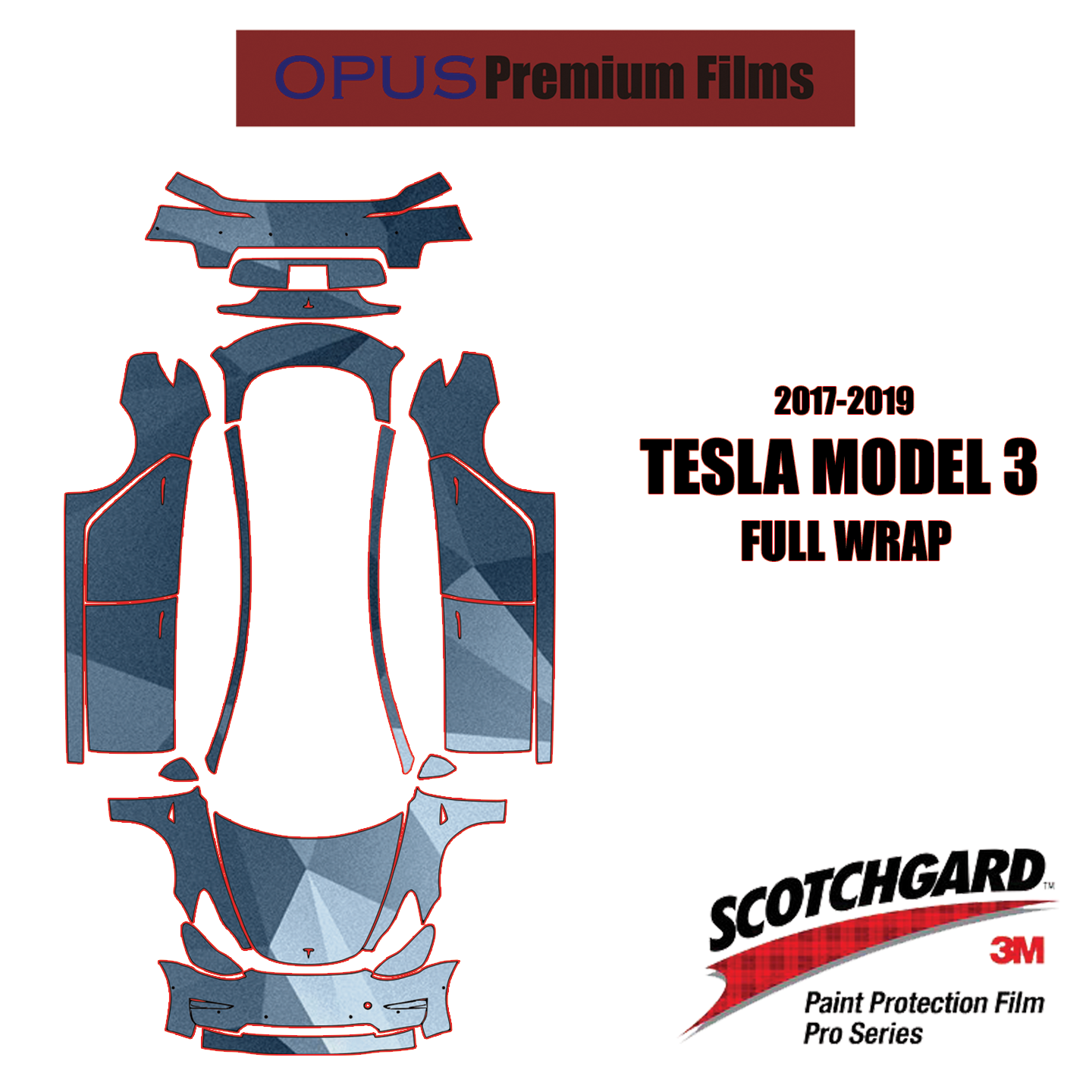 3M Scotchgard Pro Clear Bra Paint Protection Film Kits For Tesla Model X